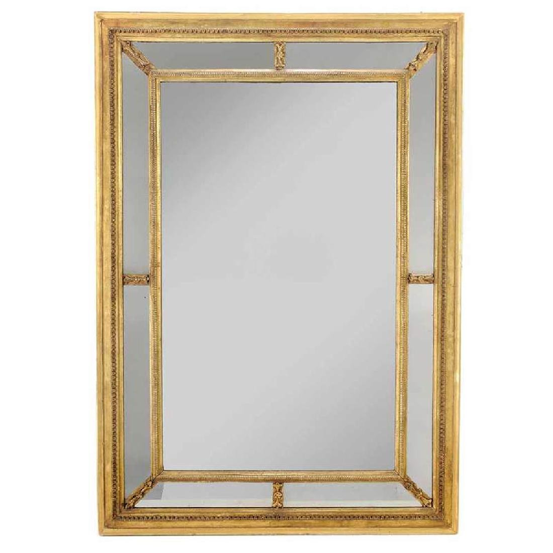 George III Style Carved Giltwood Framed Mirror