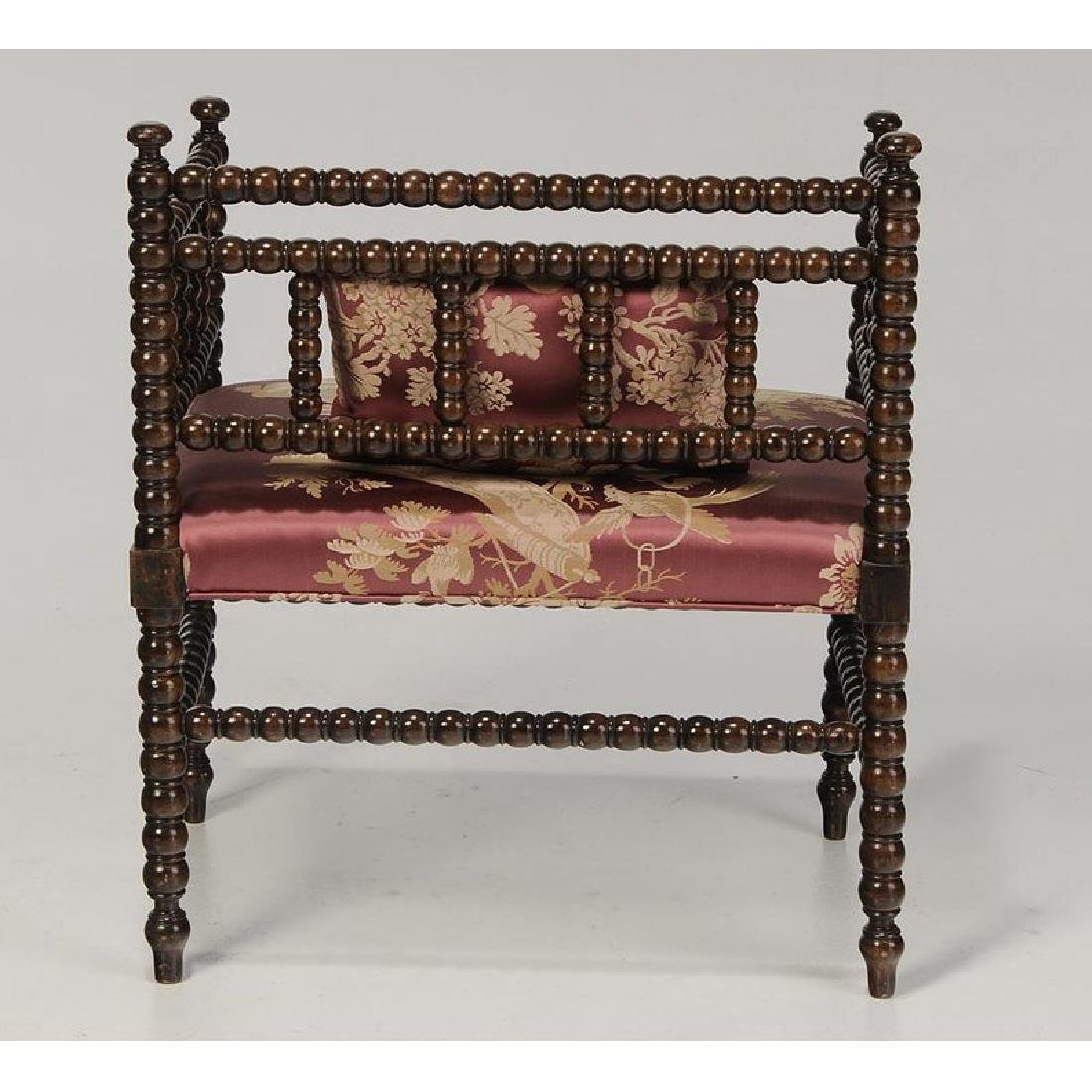 Chinoiserie Arm Chair and Classical Foot Stool - 2