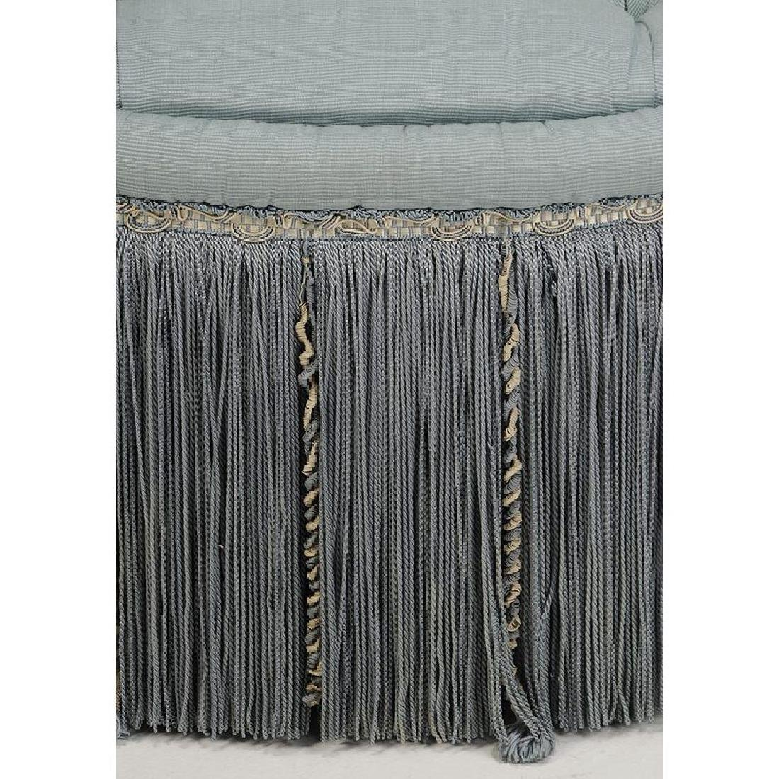Tufted Upholstered and Tassel Decorated Ottoman - 3