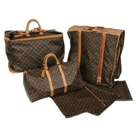Six Pieces Of Louis Vuitton Luggage