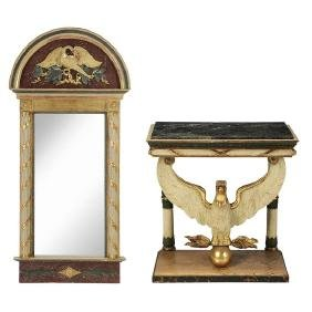 Italian Neoclassical Faux painted Console