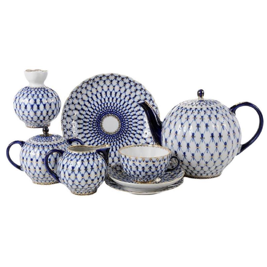 40 Piece Lomonosov Porcelain Tea Set