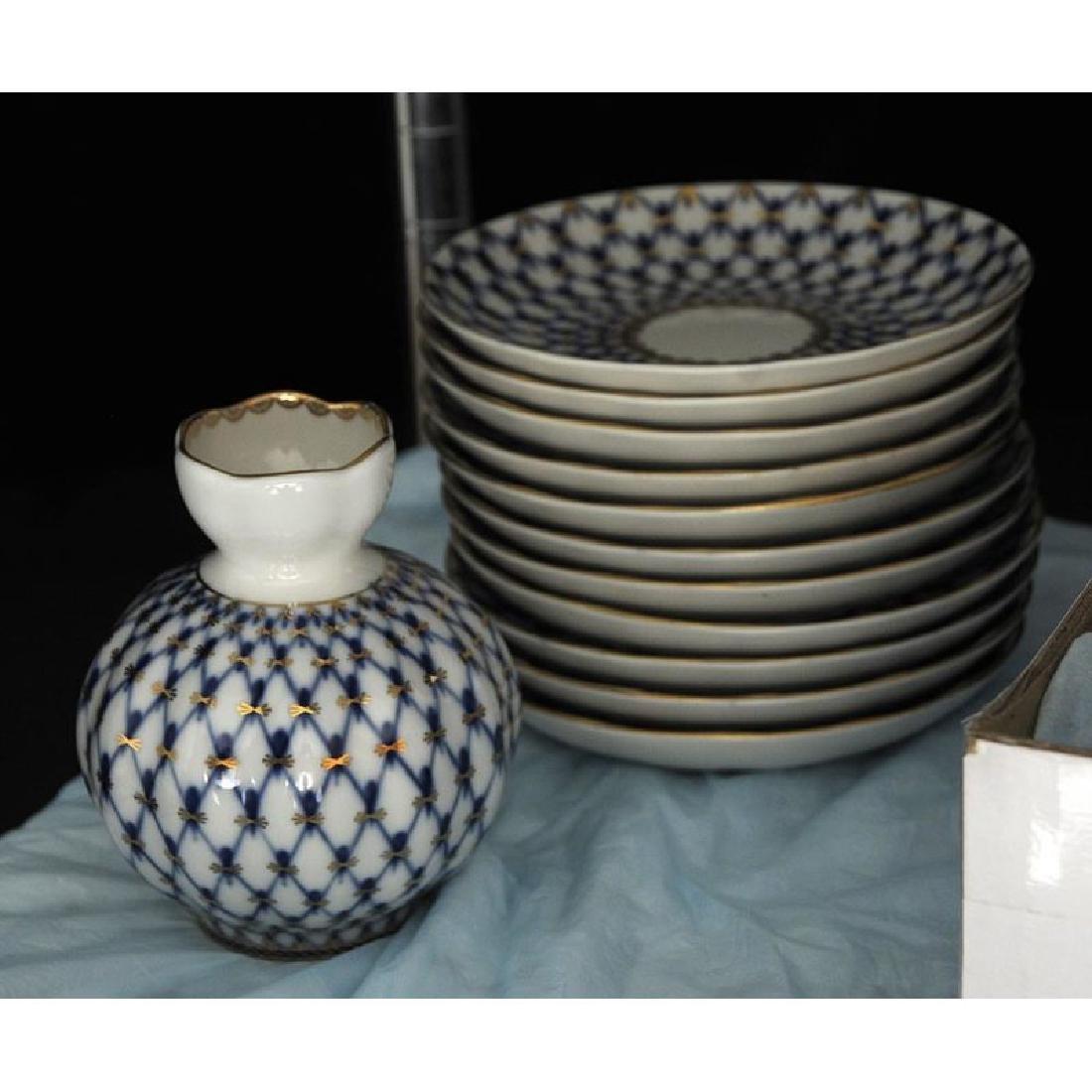 40 Piece Lomonosov Porcelain Tea Set - 3