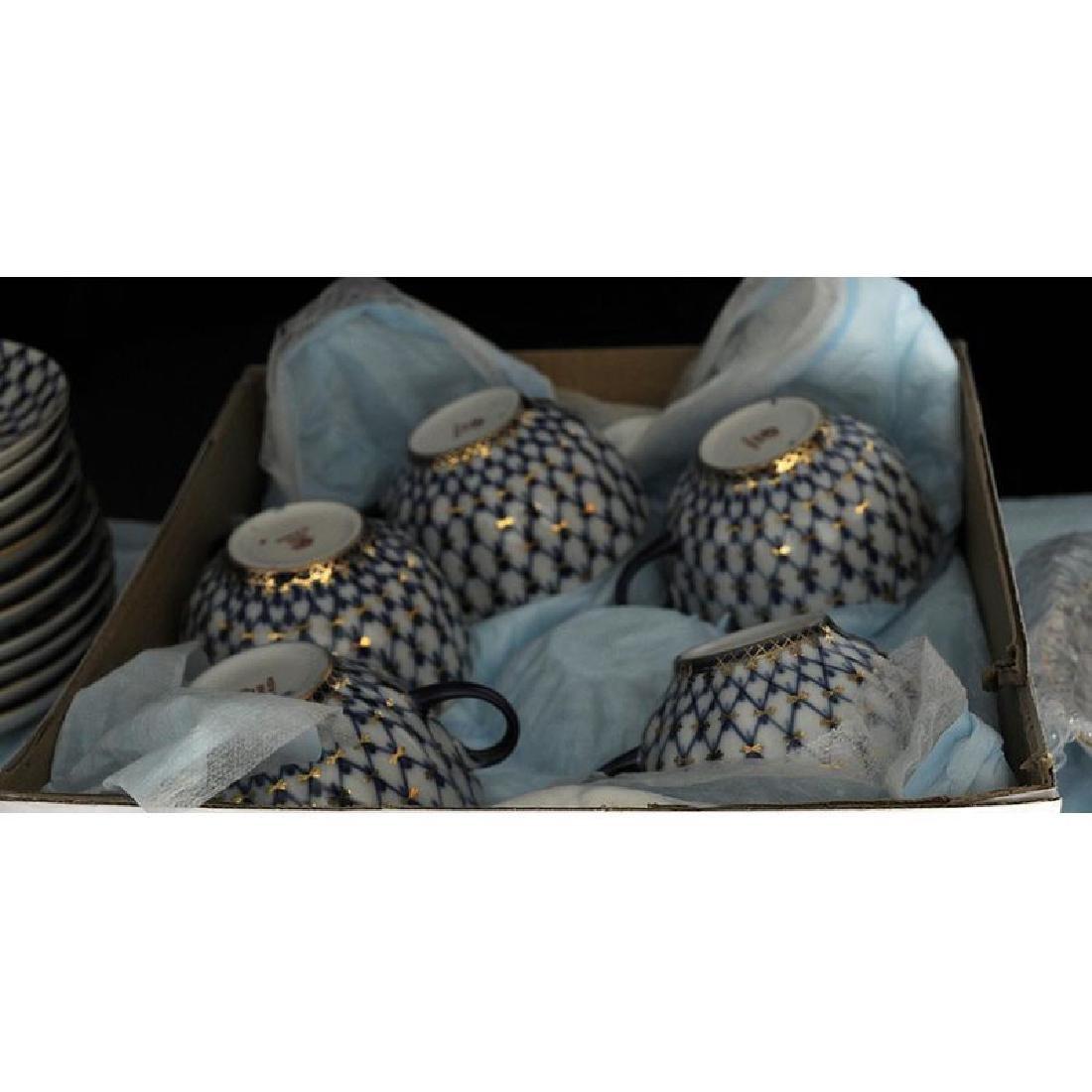 40 Piece Lomonosov Porcelain Tea Set - 4