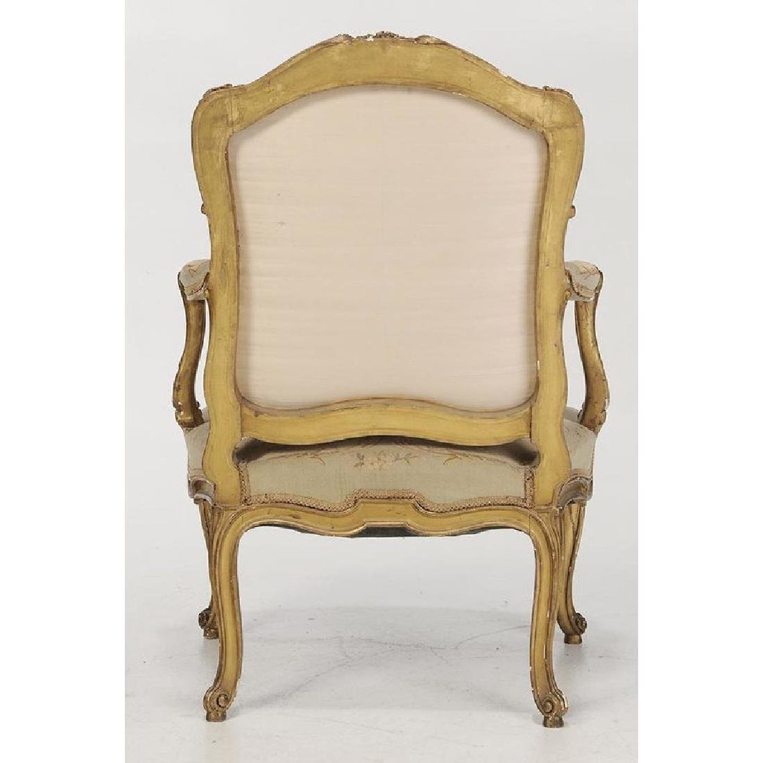 Louis XV Style Carved and Gilt Open Arm Chairs - 2