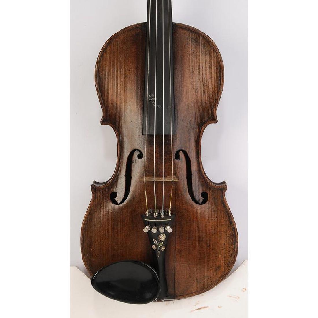 Three Vintage Violins in Cases - 2