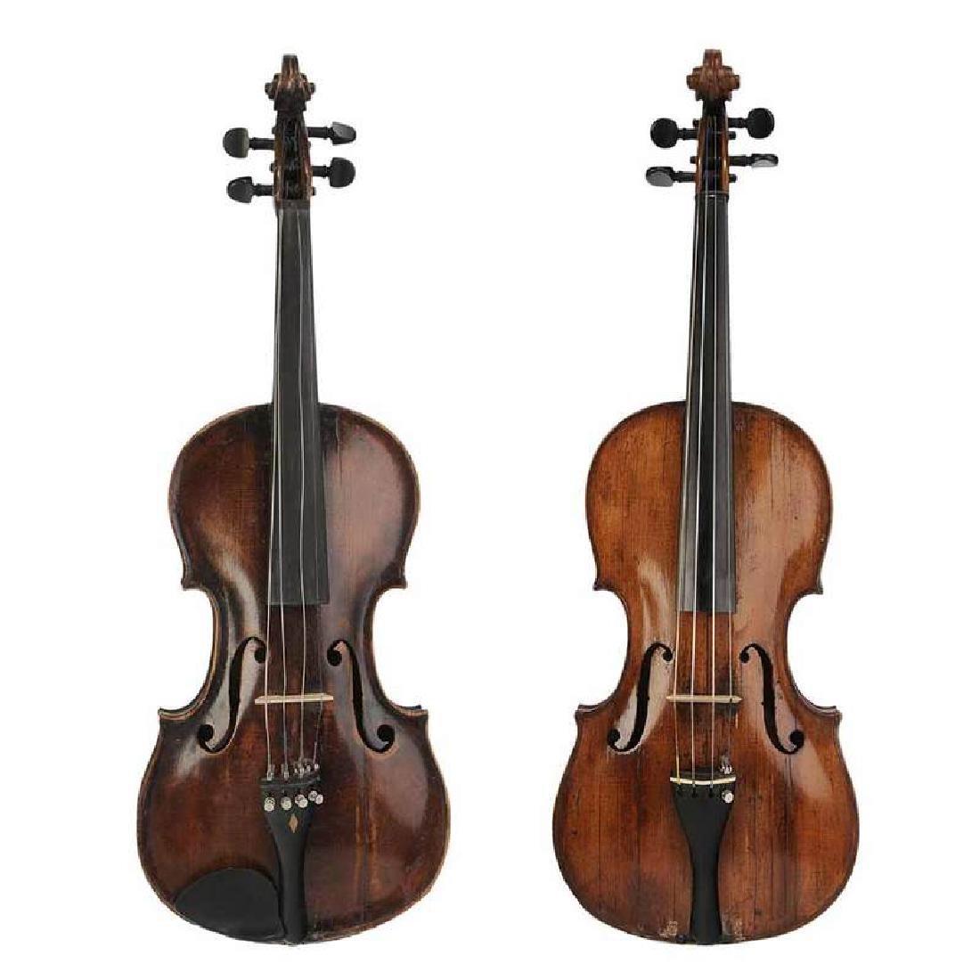Two Vintage Violins in Cases