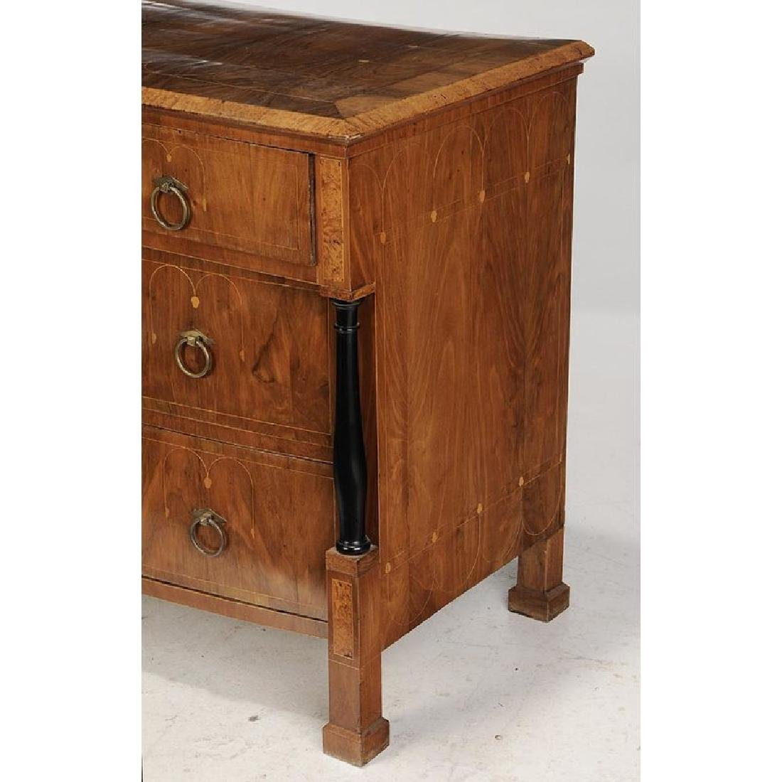 Neoclassical Inlaid and Ebonized Commode - 7