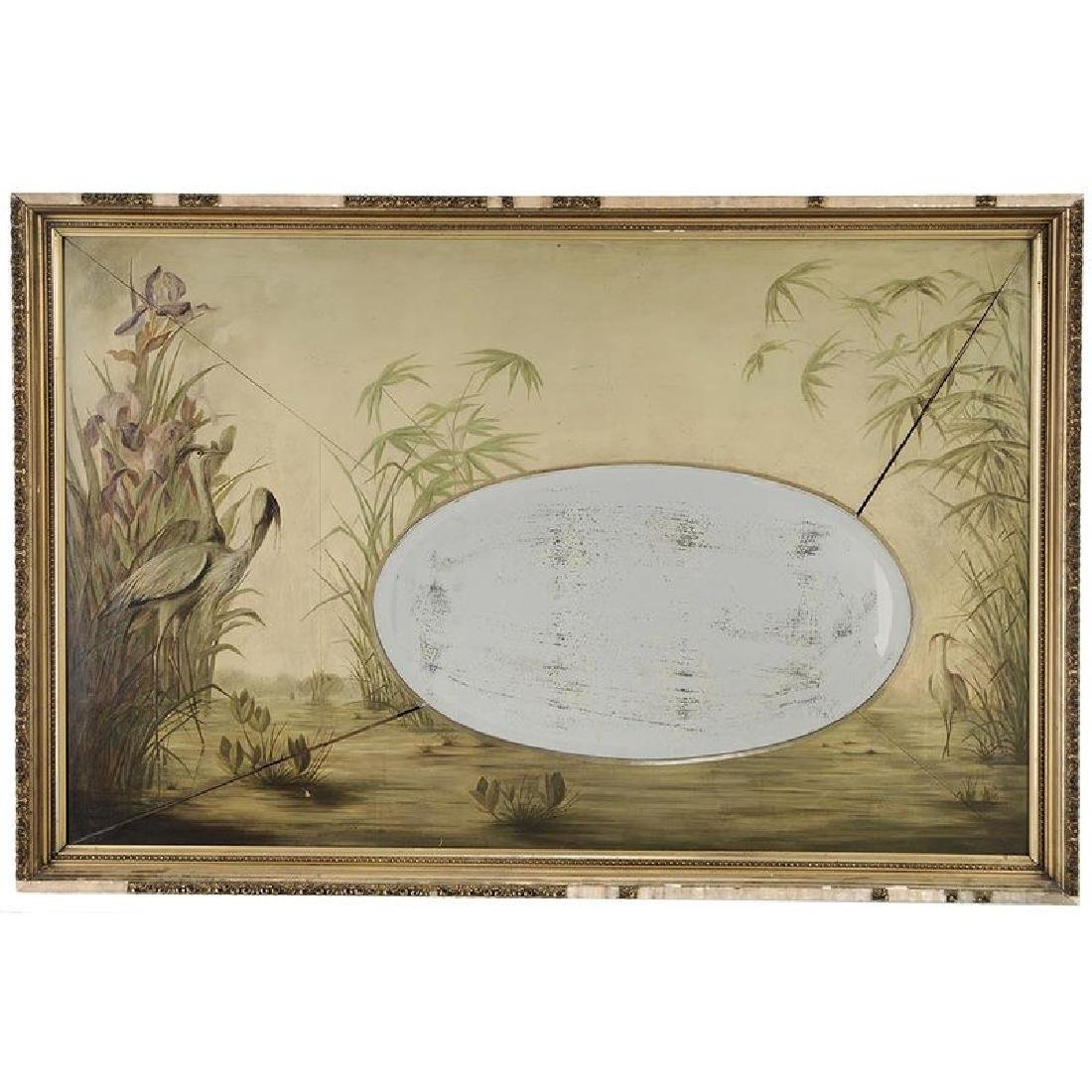 Aesthetic Movement Paint Decorated Mirror