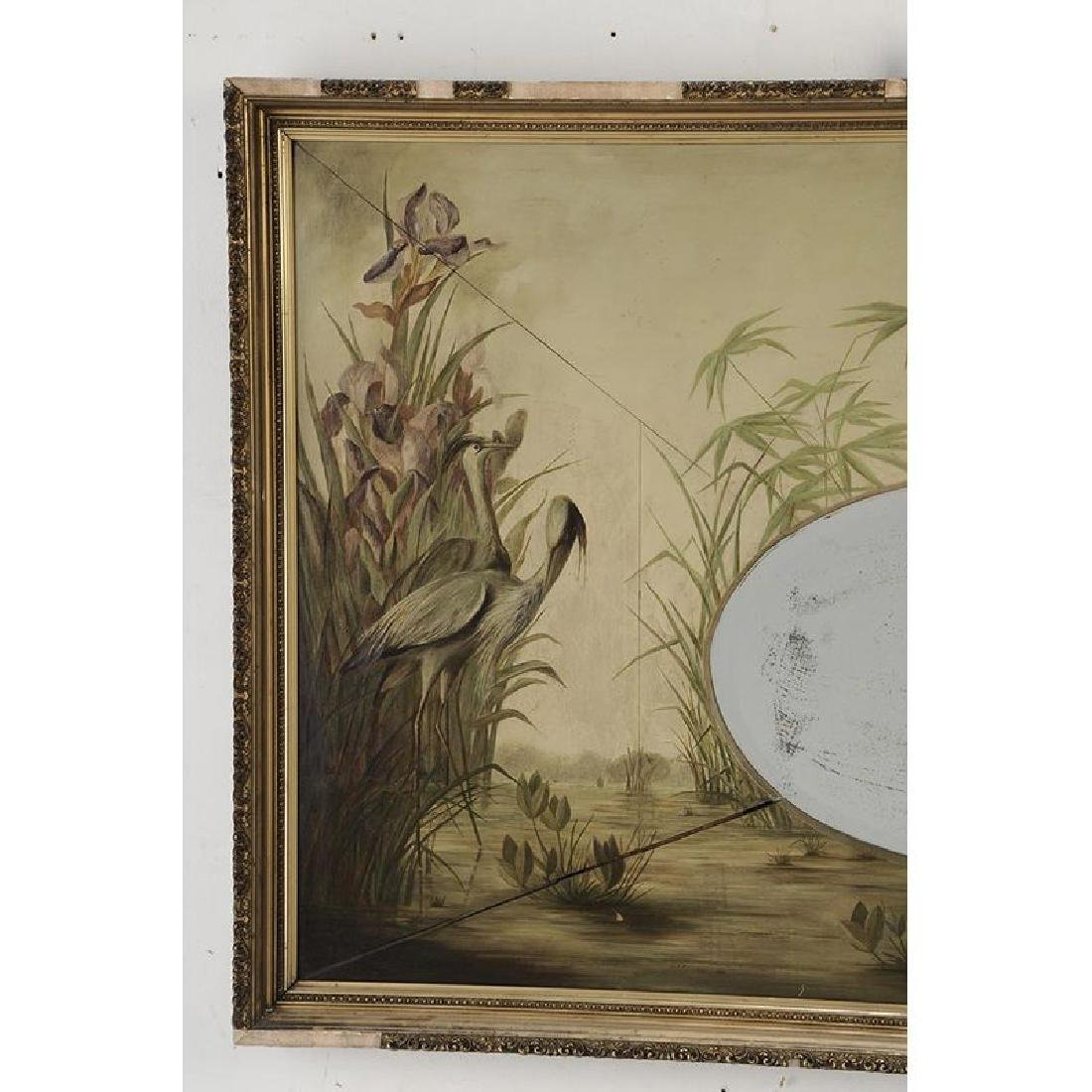 Aesthetic Movement Paint Decorated Mirror - 4