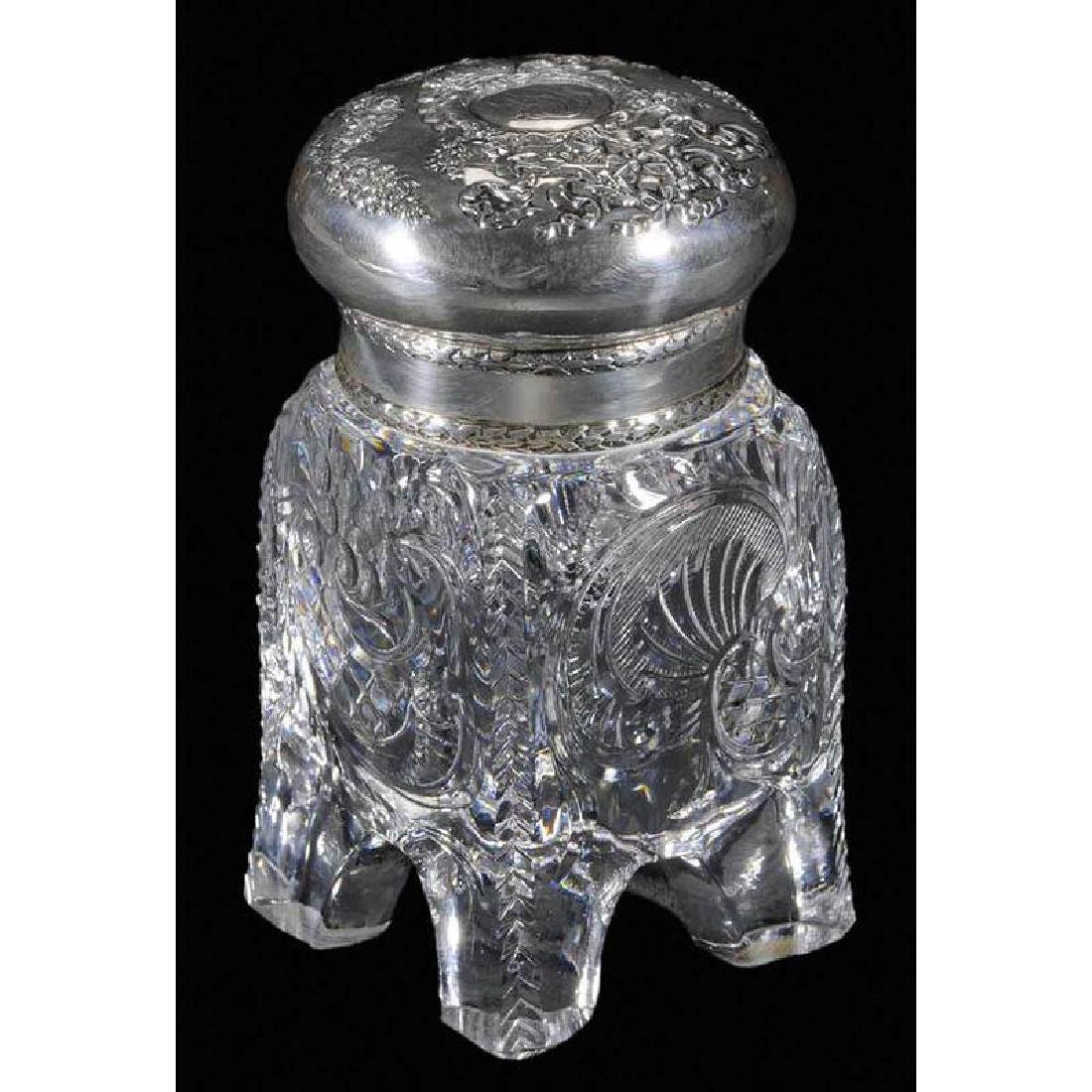 Brilliant Period Cut Glass Inkwell