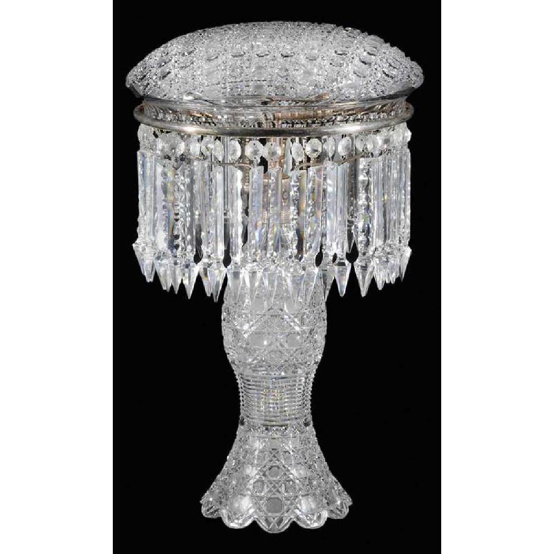 Brilliant Period Cut Glass Table Lamp