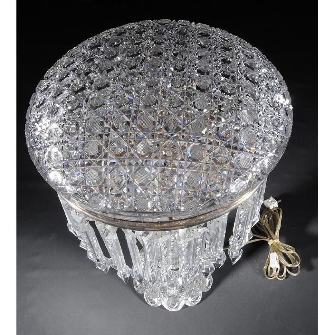Brilliant Period Cut Glass Table Lamp - 2
