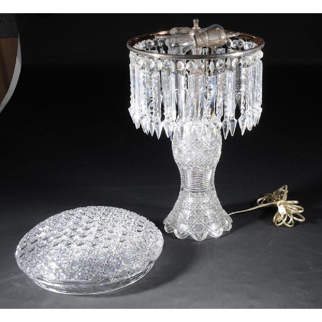 Brilliant Period Cut Glass Table Lamp - 3