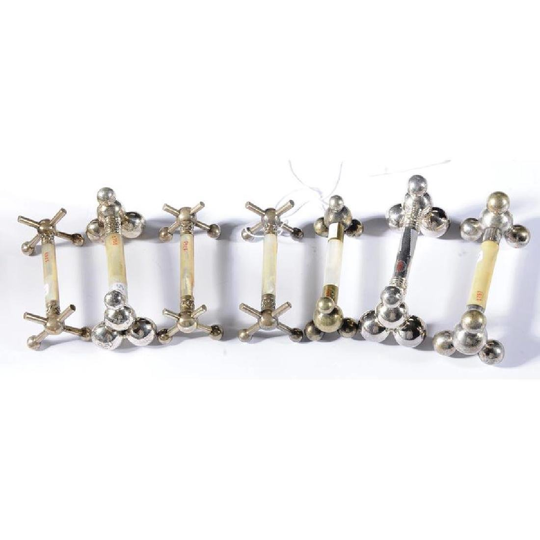 Group of Twelve Silver and Silver-Plated Knife Rests - 2
