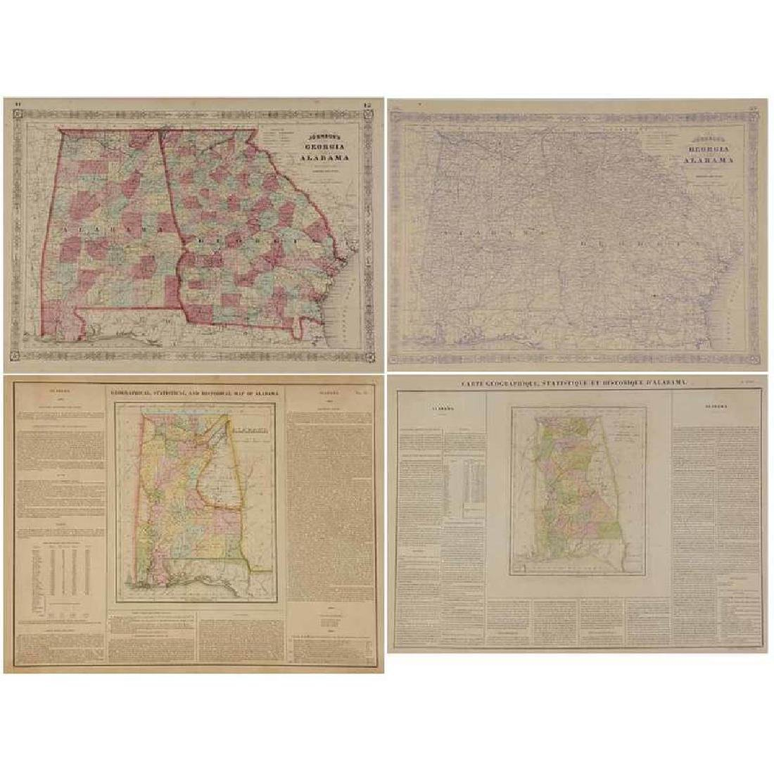 Four 19th Century Southern Atlas Maps
