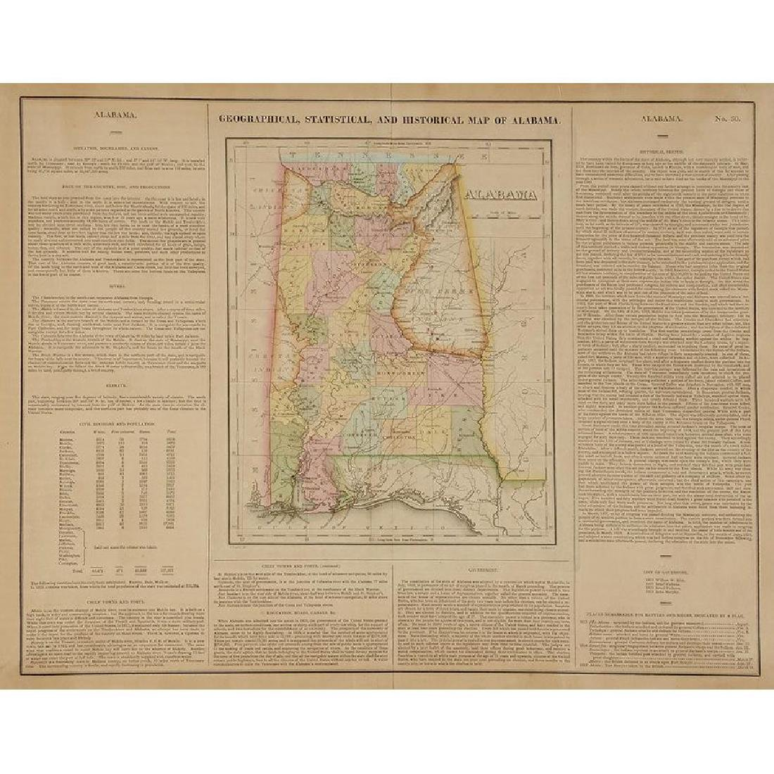 Four 19th Century Southern Atlas Maps - 2