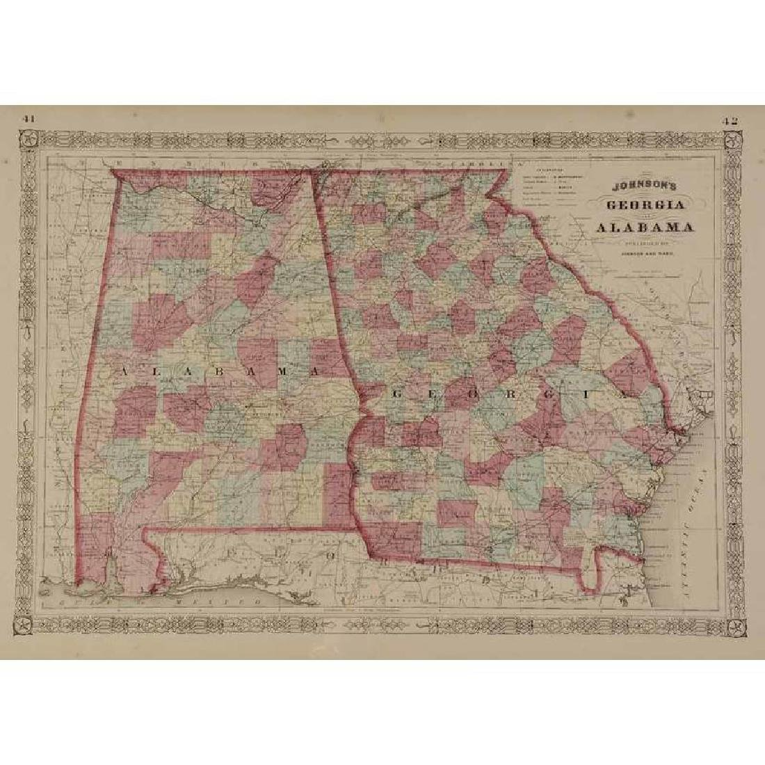 Four 19th Century Southern Atlas Maps - 3