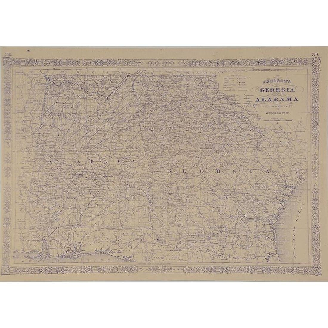 Four 19th Century Southern Atlas Maps - 5