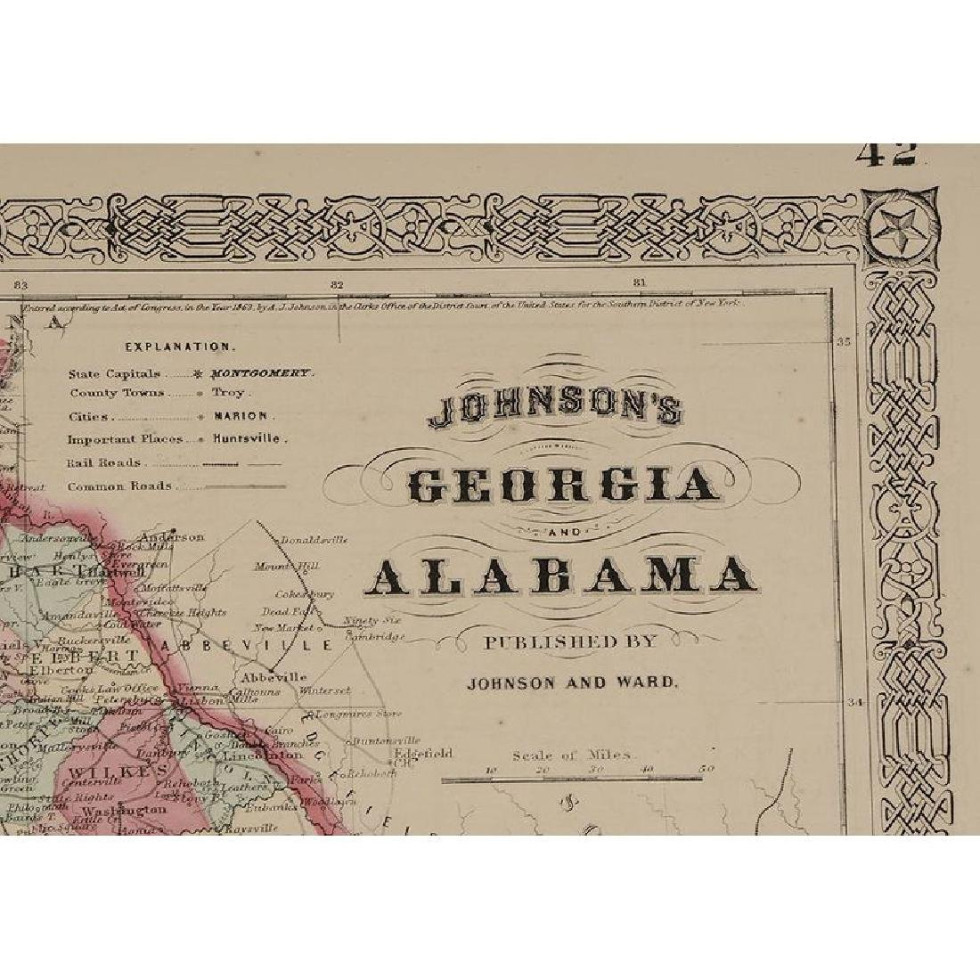 Four 19th Century Southern Atlas Maps - 7