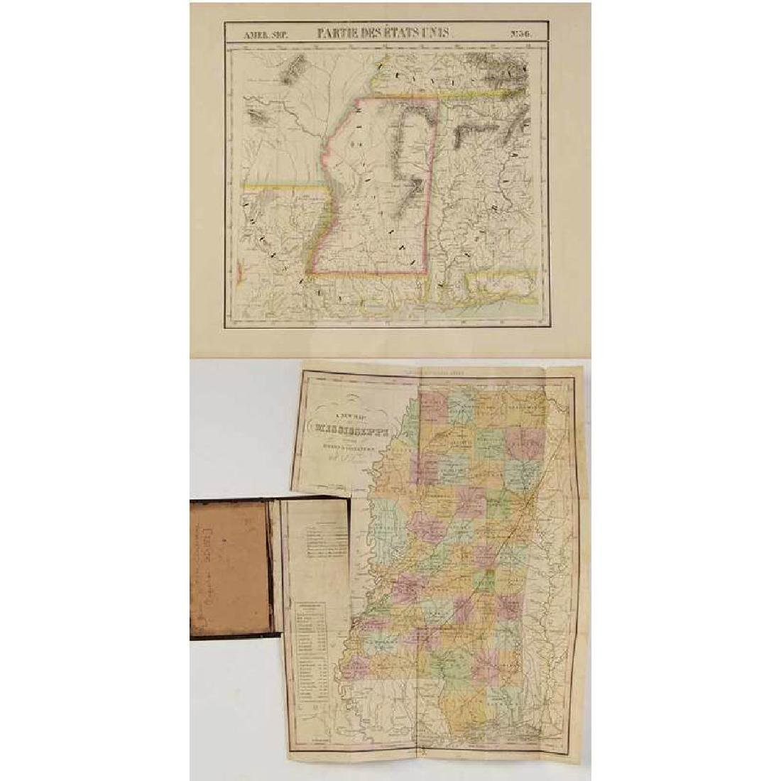 Two 19th Century Maps of Mississippi