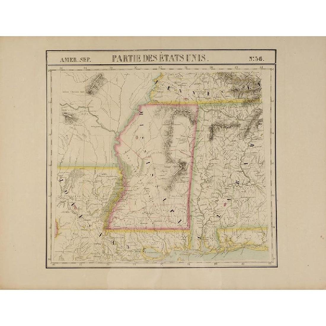 Two 19th Century Maps of Mississippi - 2