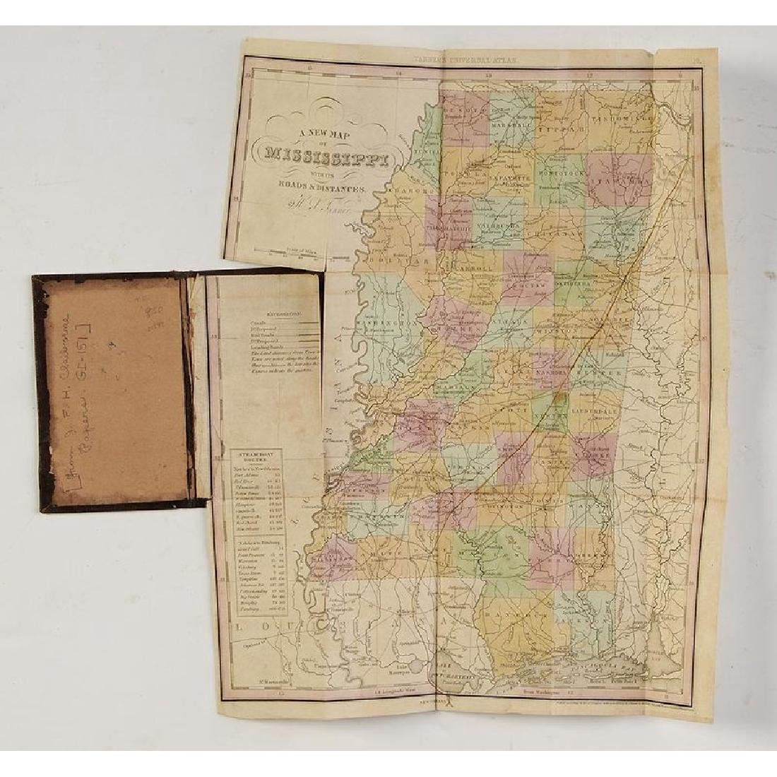 Two 19th Century Maps of Mississippi - 3