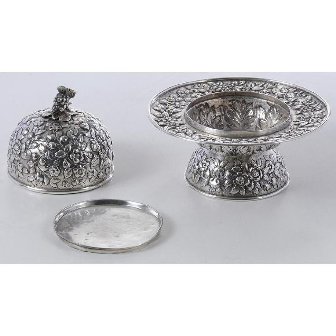 Kirk Coin Silver Butter Dish - 6