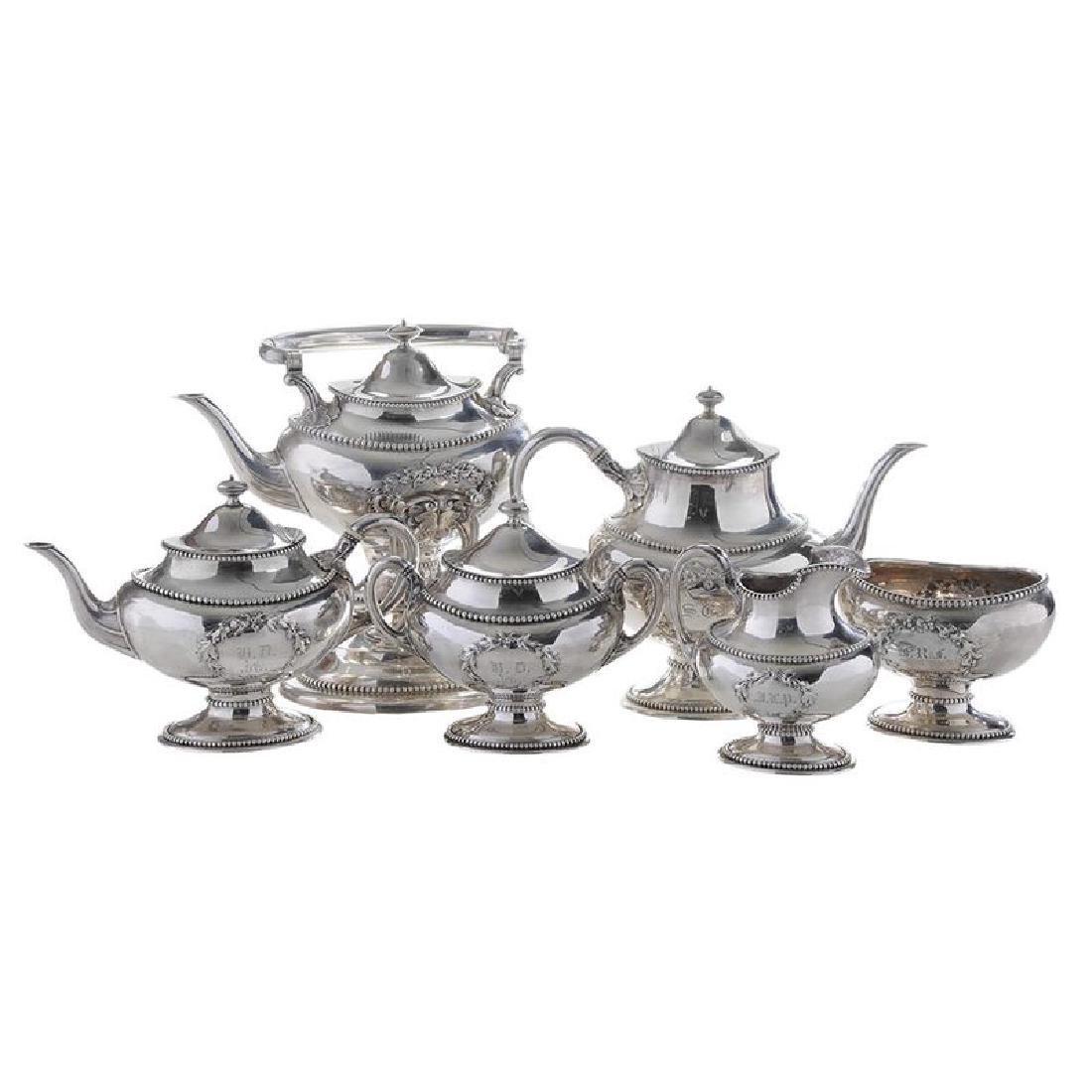 Six Piece Silver Tea Service
