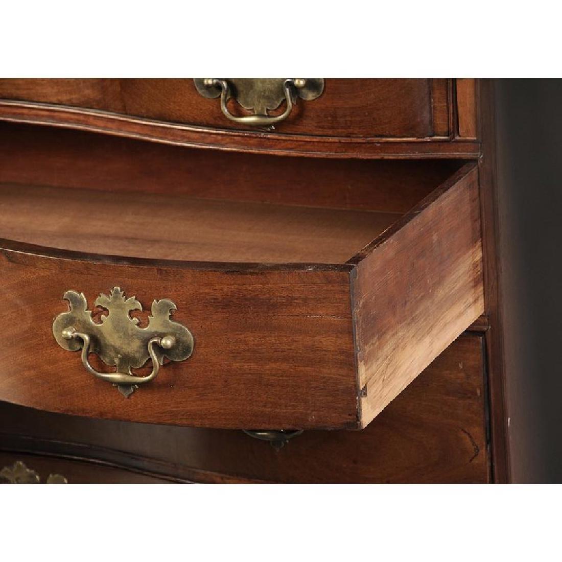 Massachusetts Chippendale Mahogany Desk - 7