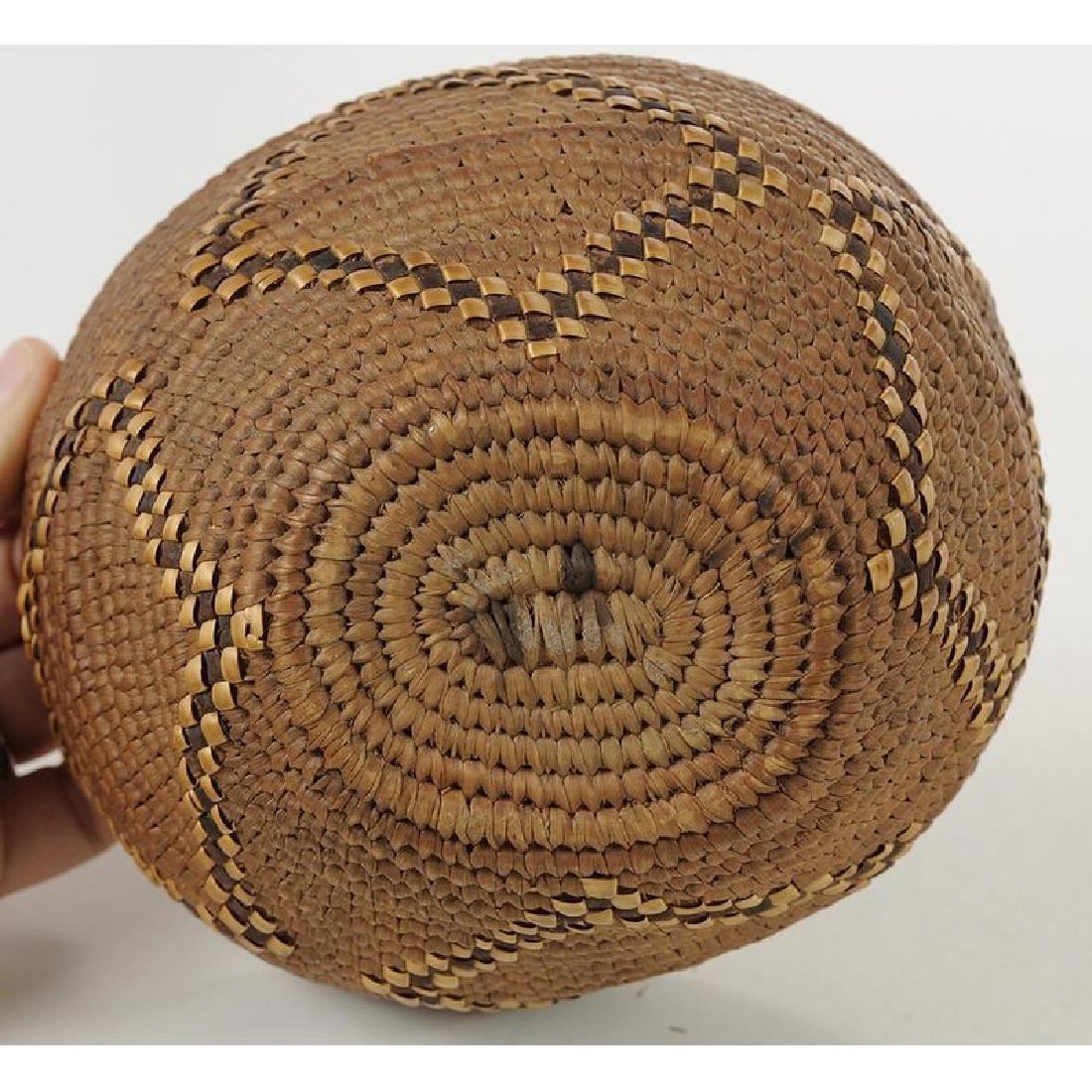 Northwest Coast Salish Oval Basket - 4