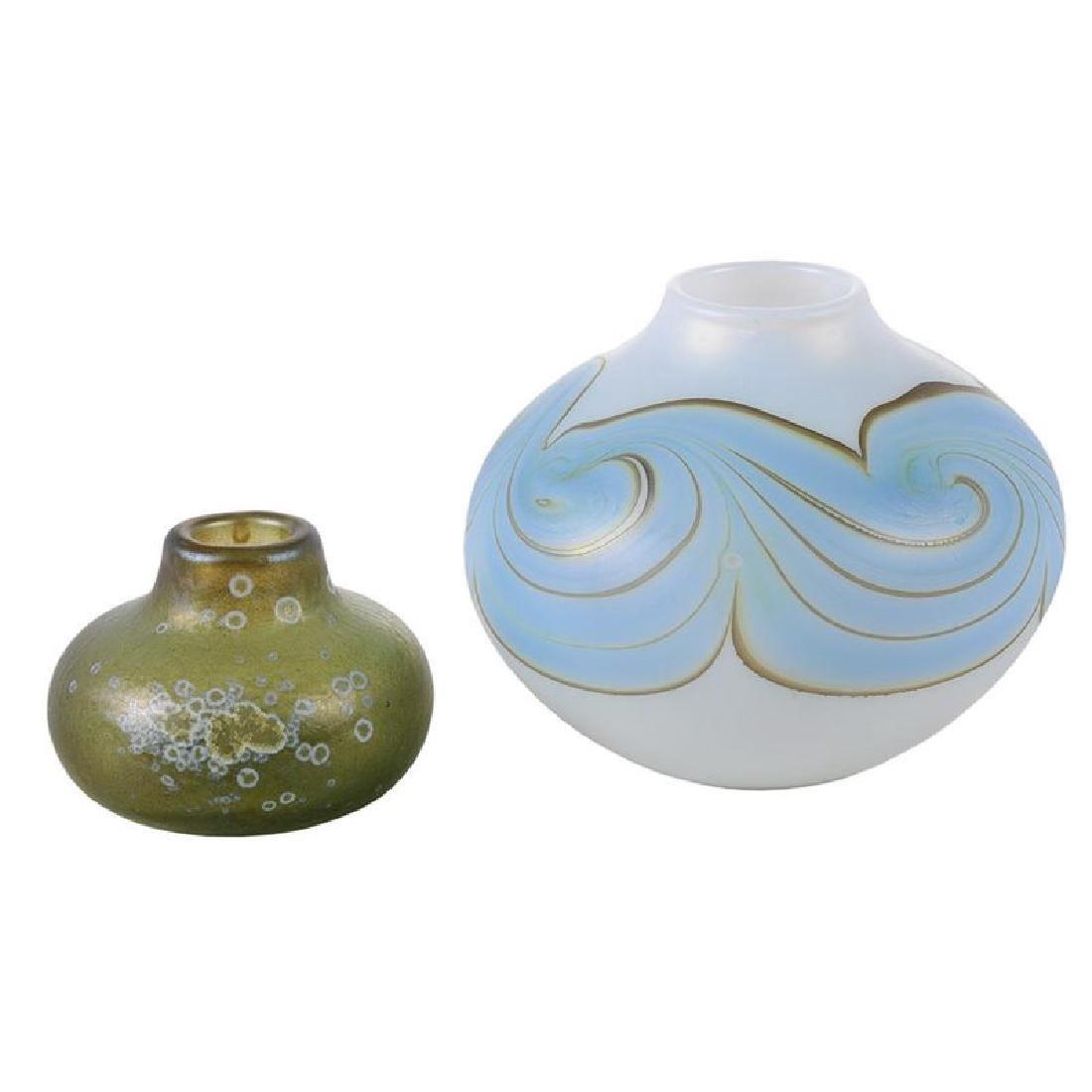 Two Mark Peiser Art Glass Vases