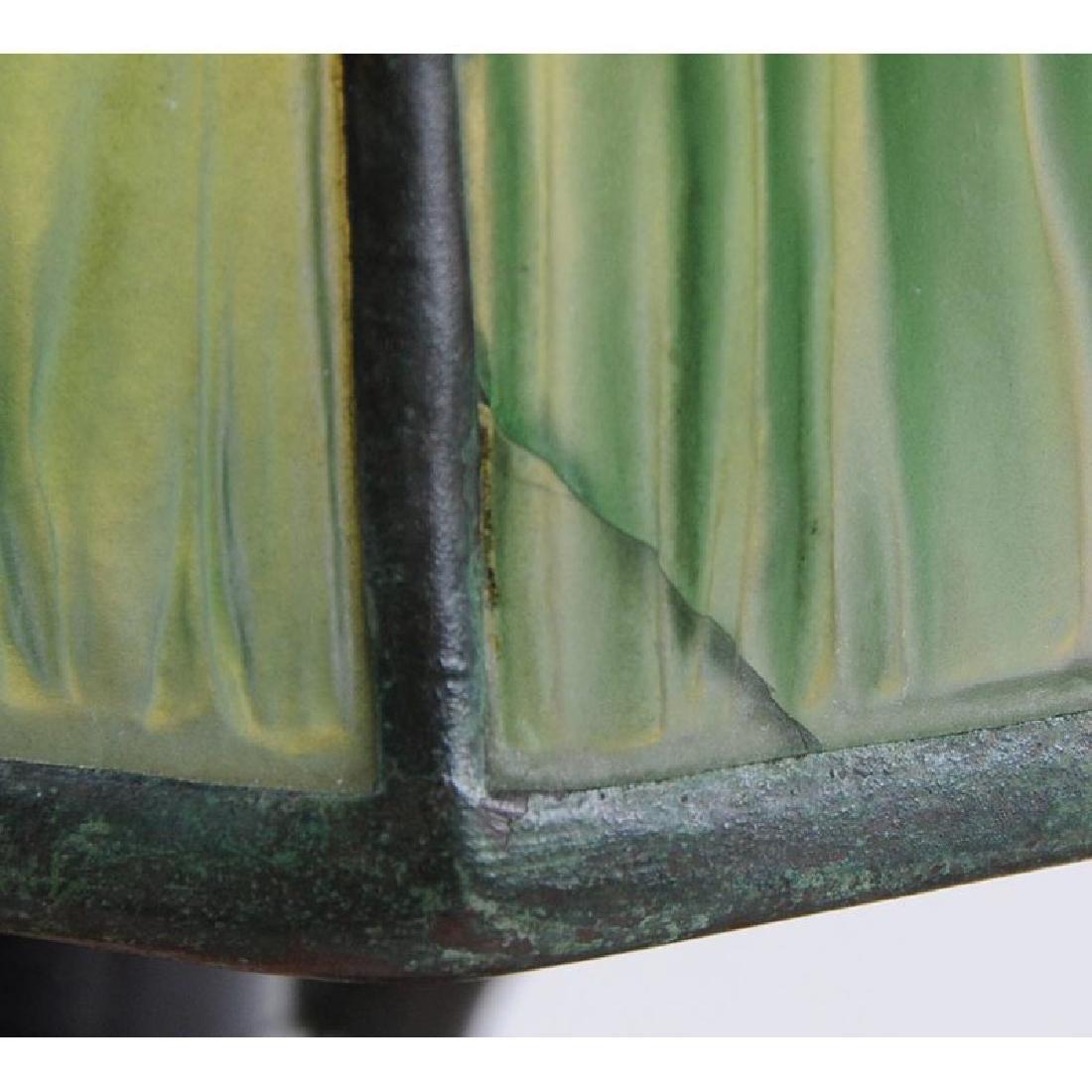 Tiffany Desk Lamp With Linen Fold Shade - 5