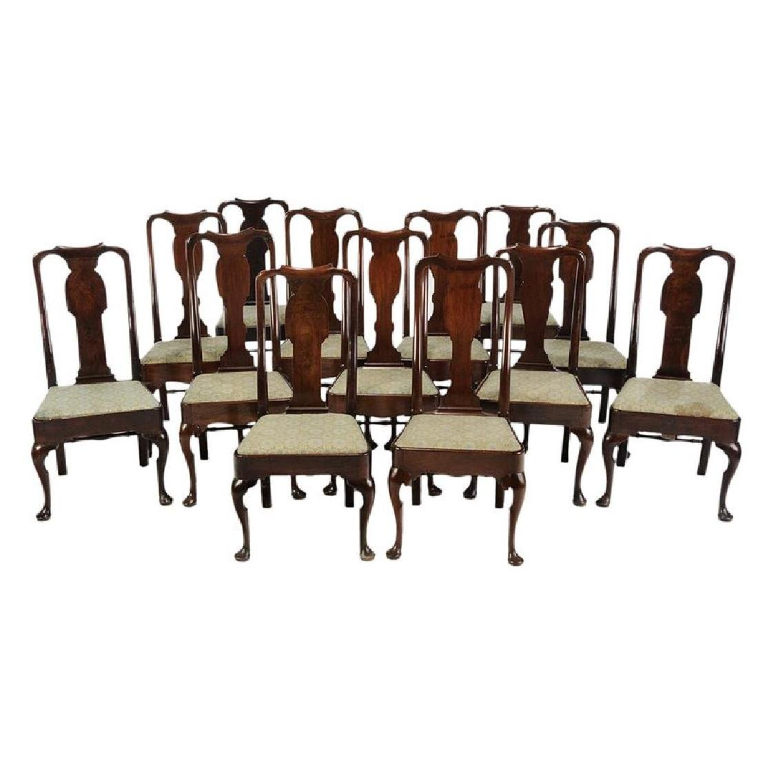 Assembled Set 13 Queen Anne Dining Chairs