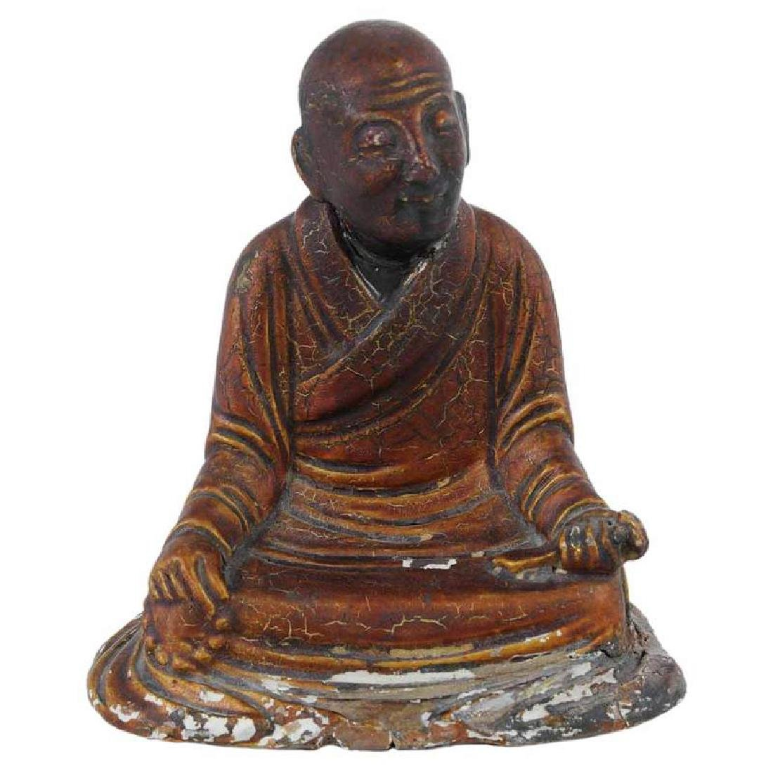Chinese Seated Arhat Figure