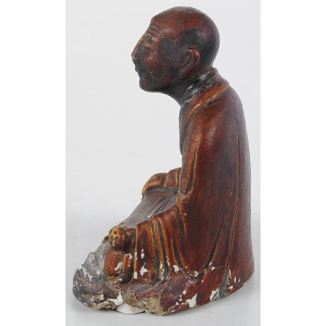 Chinese Seated Arhat Figure - 2