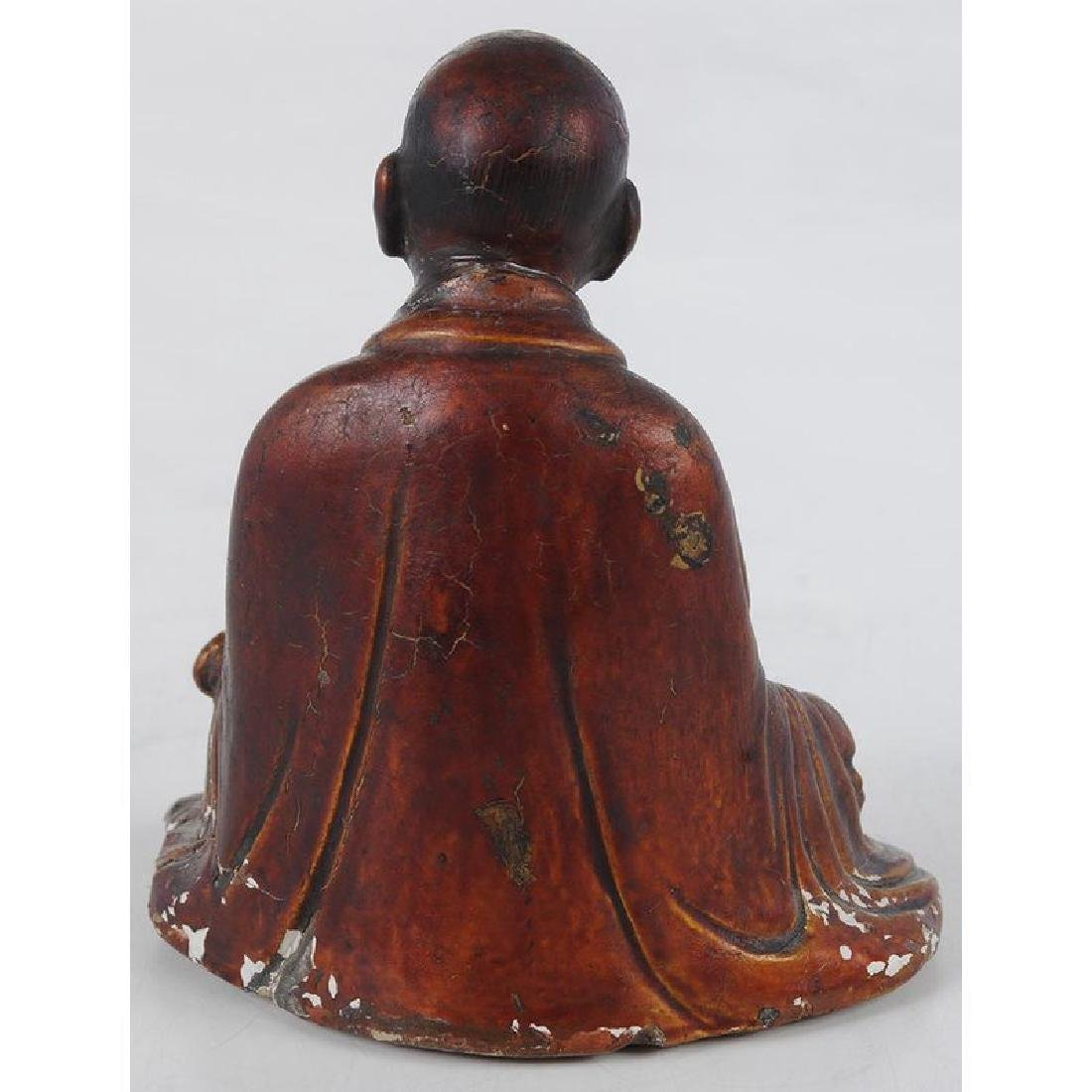 Chinese Seated Arhat Figure - 3