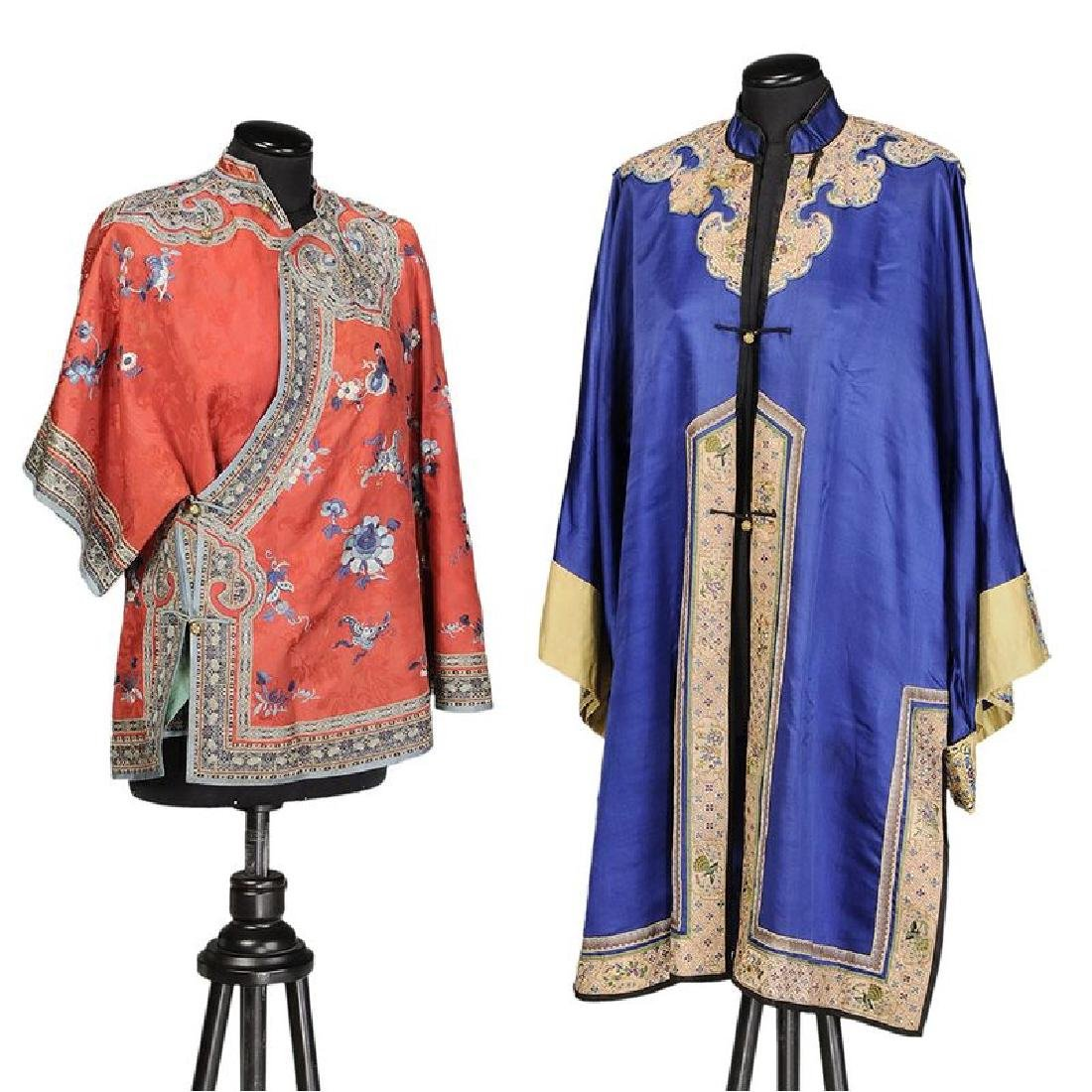 Chinese Silk Embroidered Jacket, Robe