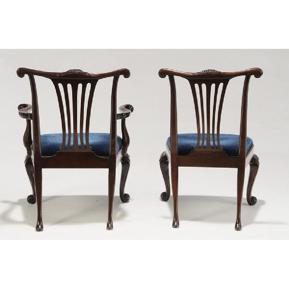 Set of Eight Chippendale Style Mahogany Dining Chairs - 5