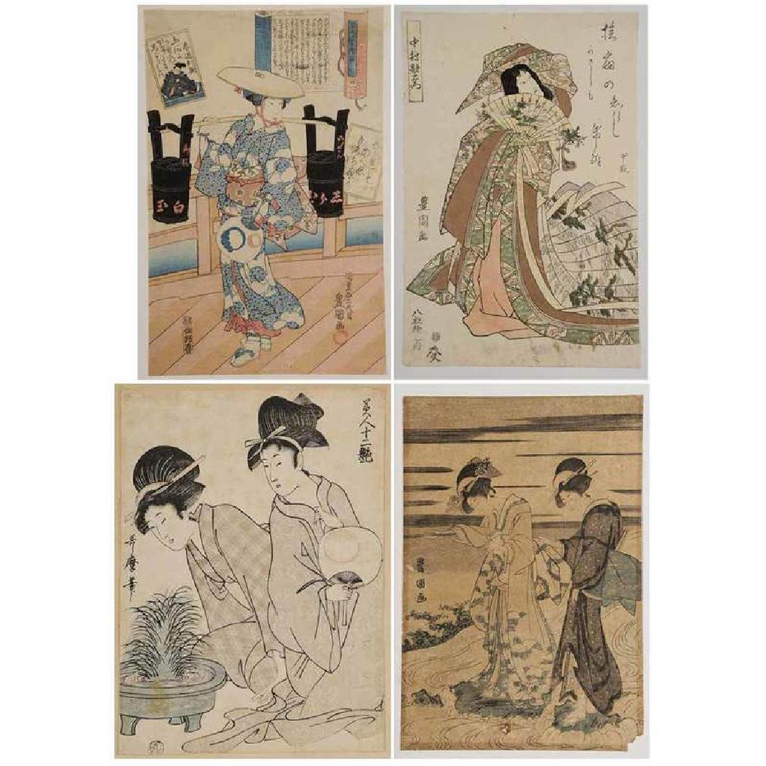 Group of Six Japanese Woodblocks