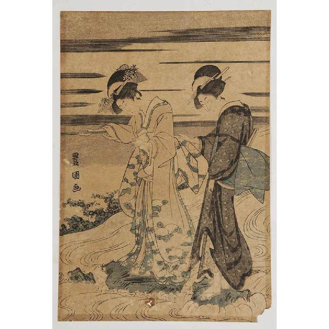 Group of Six Japanese Woodblocks - 2