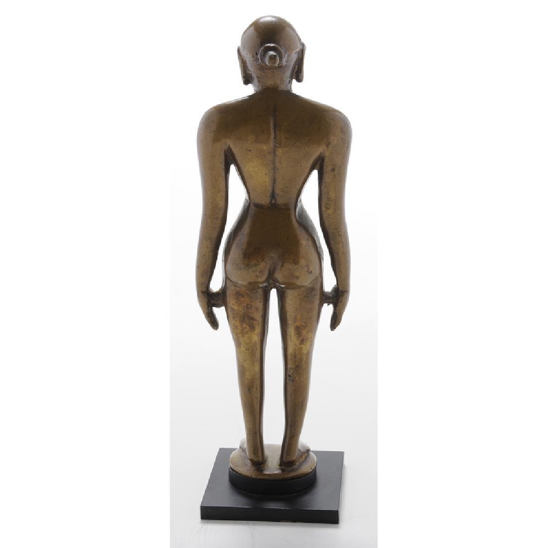 Indian Bronze Figure Of A Jina - 3