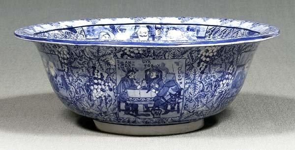 7: Monumental stoneware punch bowl,