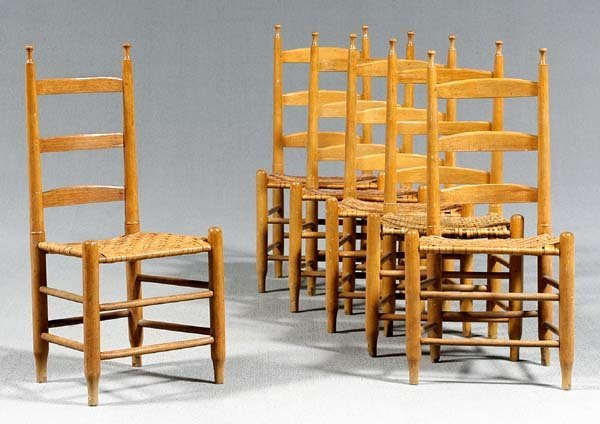 12: Six Tennessee side chairs: