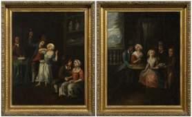 224 Pair Old Master paintings