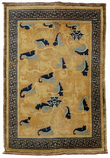 258: 19th century Chinese rug,