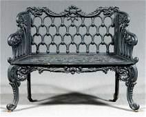661 Victorian cast iron garden bench