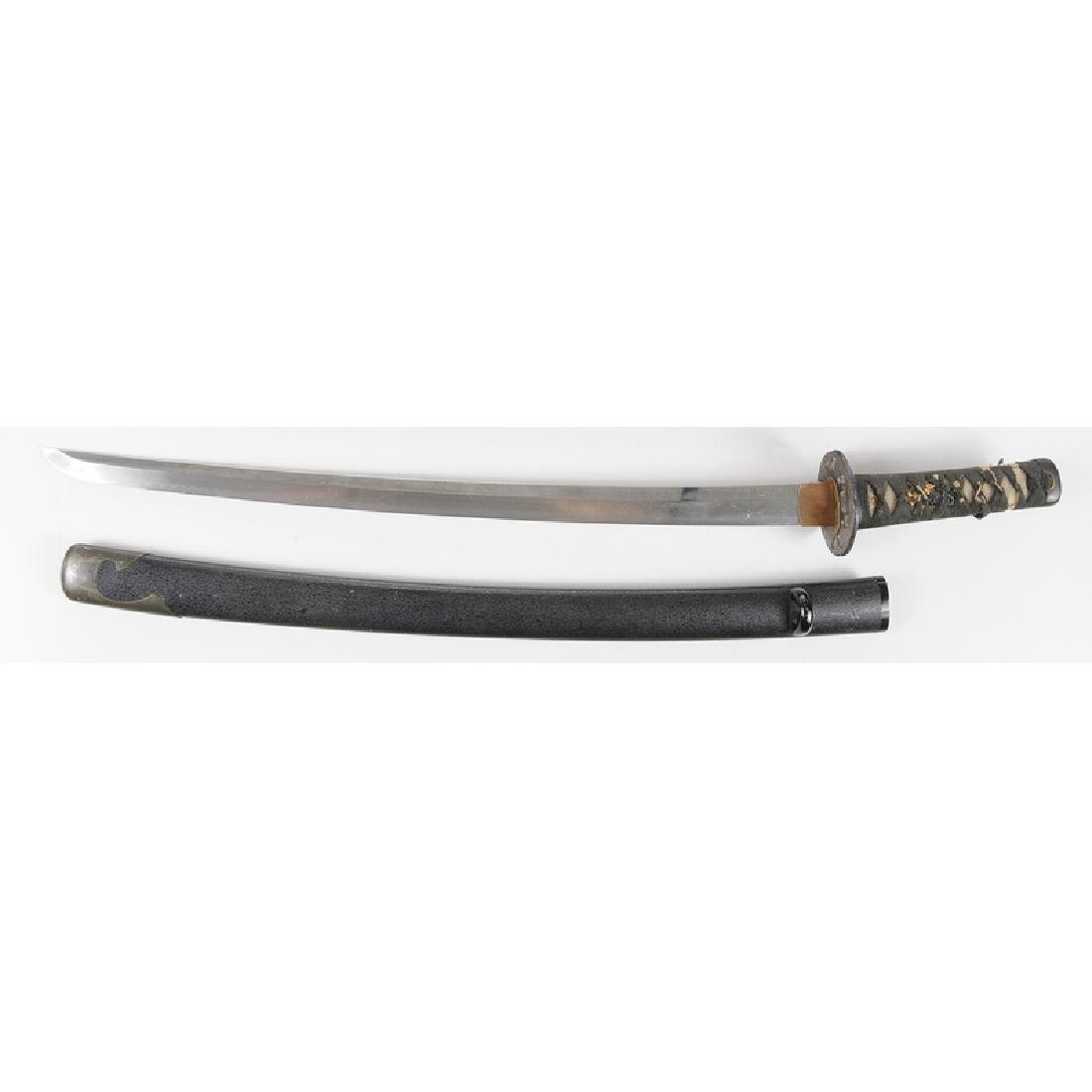 Samurai Sword with Scabbard Signed - 3
