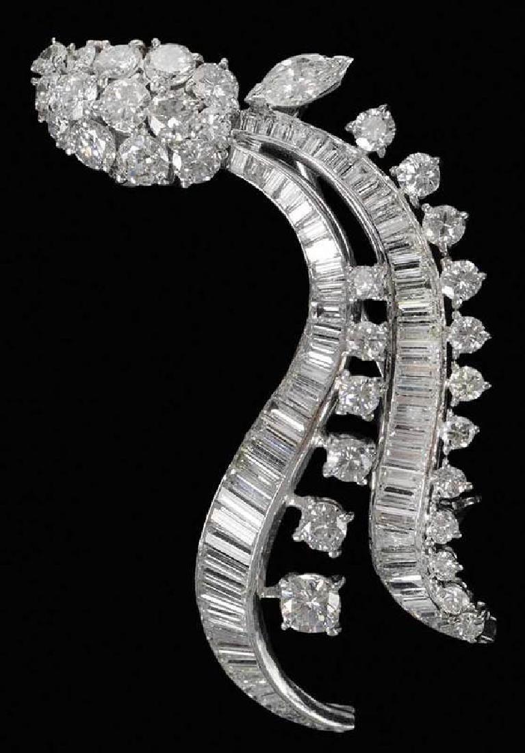 Platinum & Diamond Brooch