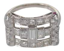 Platinum & Gold Diamond Ring